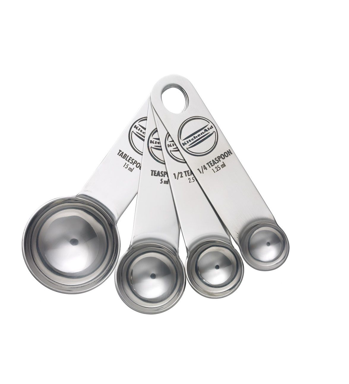 Set Of 4 Stainless Steel Measuring Spoons Kitchenaid Christmale Christmasoffers
