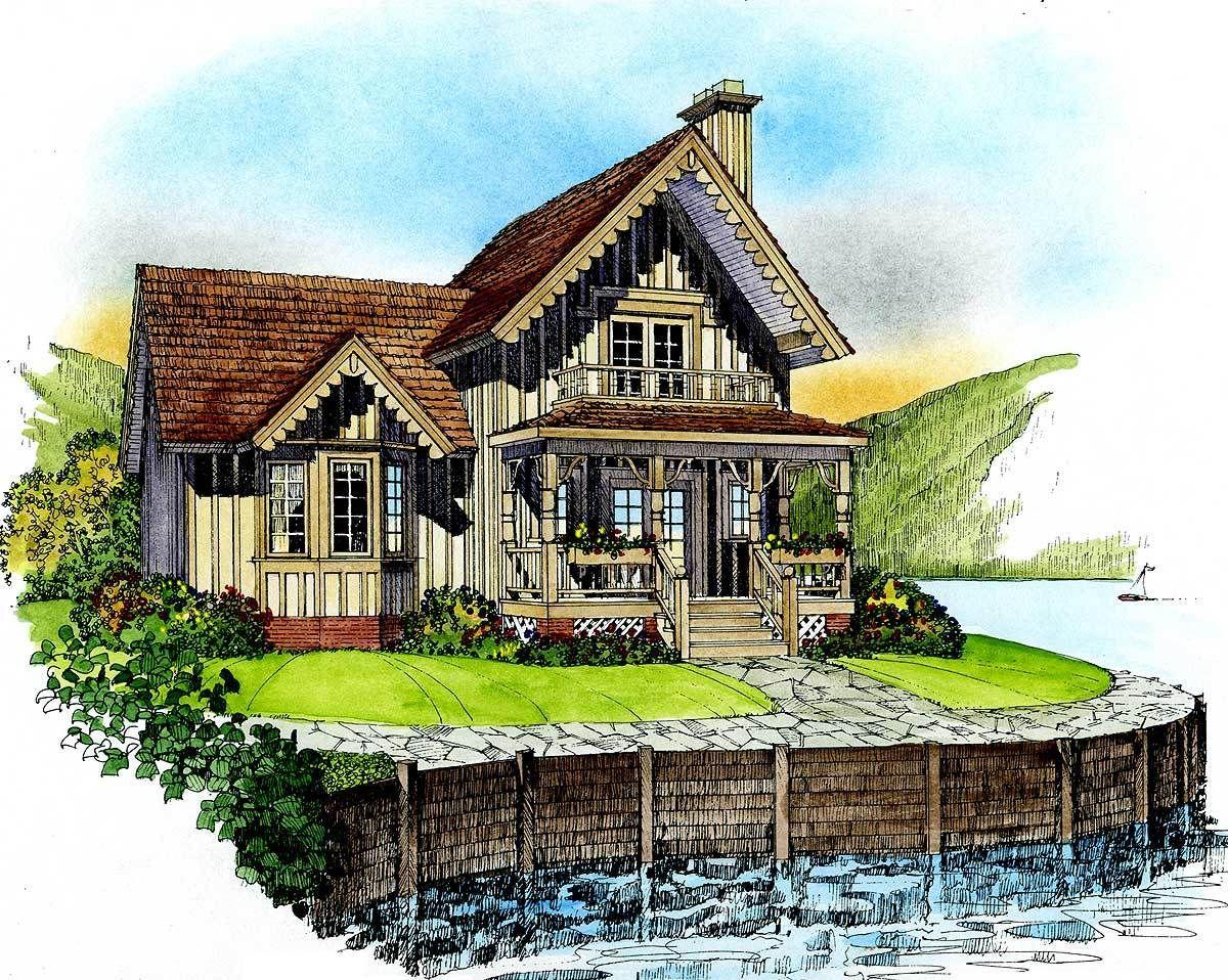 Plan 43018pf Quaint Cottage Victorian House Plans House Plans Cabin House Plans