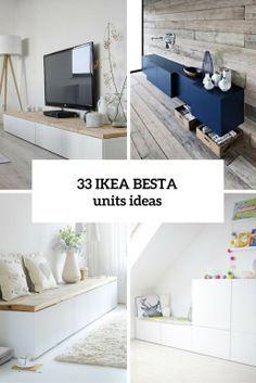 33 Ways To Use IKEA Besta Units In Home Décor | Idee Deco Salon In 2018 |  Pinterest | Wohnzimmer, Einrichtung And Möbel