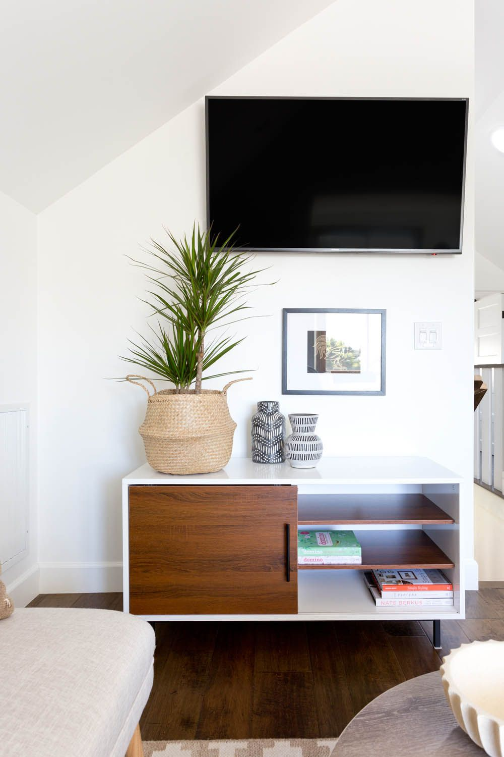 A High Style Low Budget Attic Renovation | Rue | Living Room ...