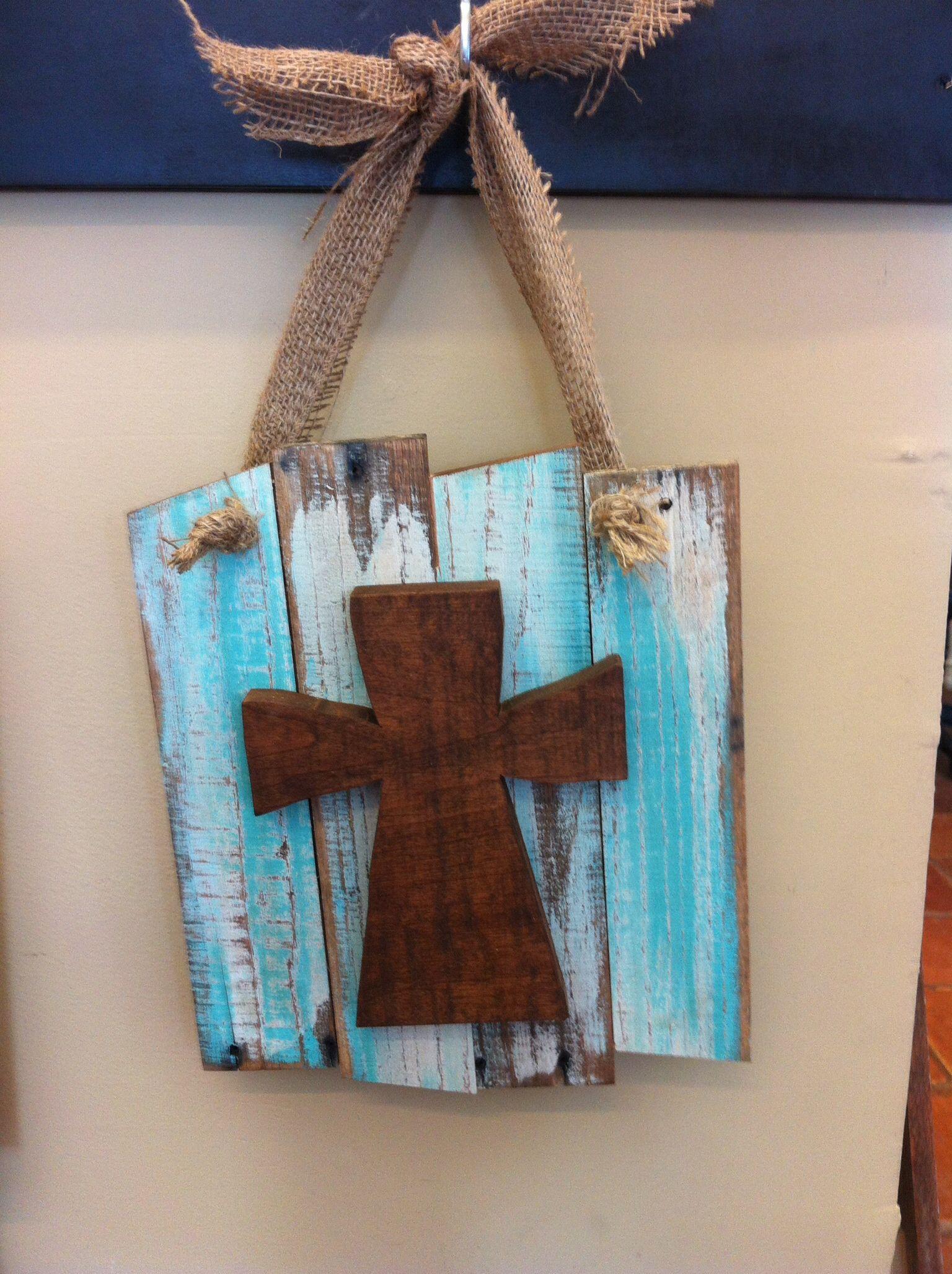 Use Slats From Broken Shutterhanging Cross By Higgi House