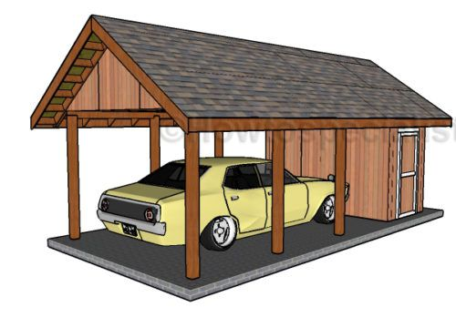 Carport With Storage Plans Sheds Garage