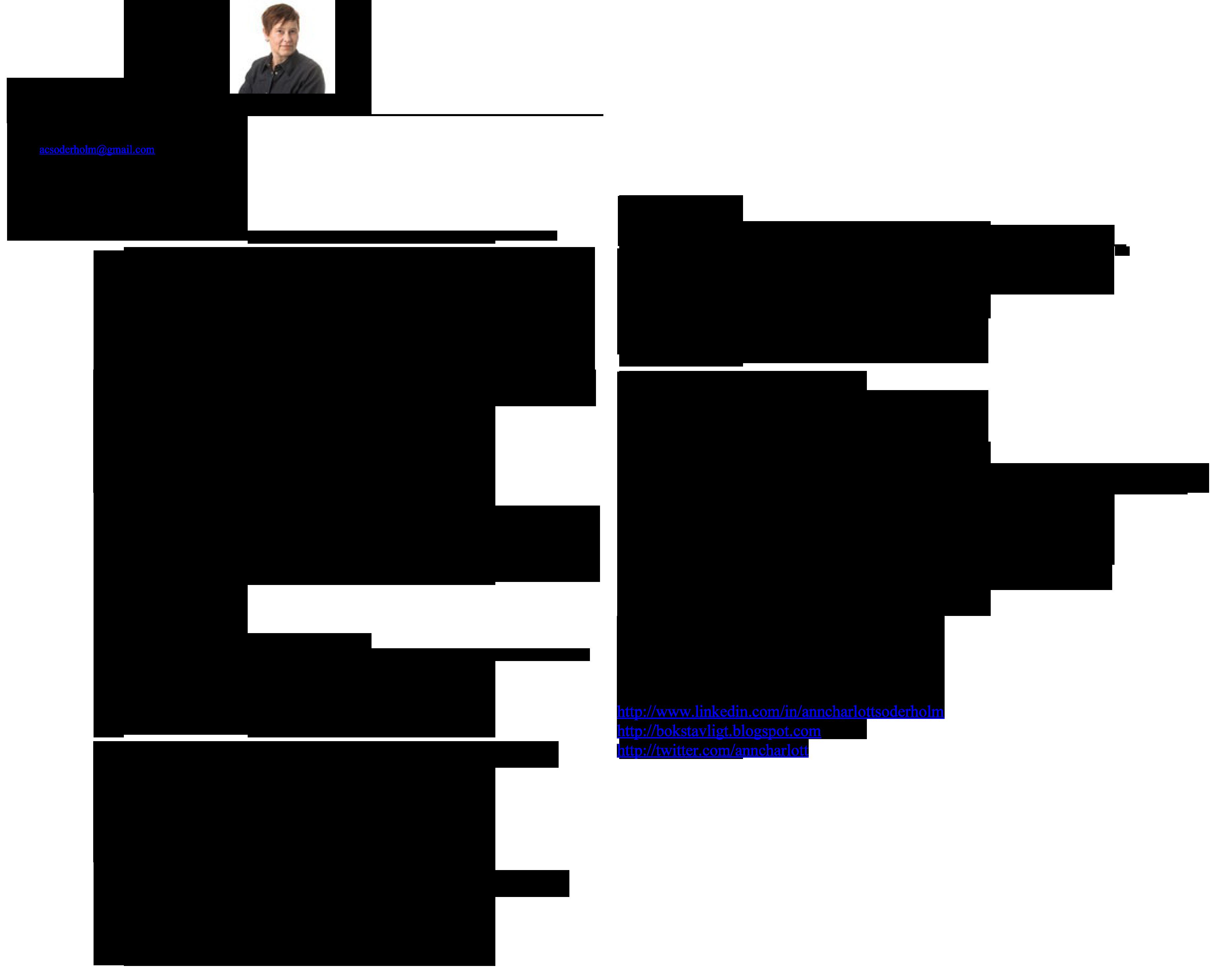 Anncharlott Soderholm Pr Info Projektledning Strategi Projektledning Utbildning Arbete