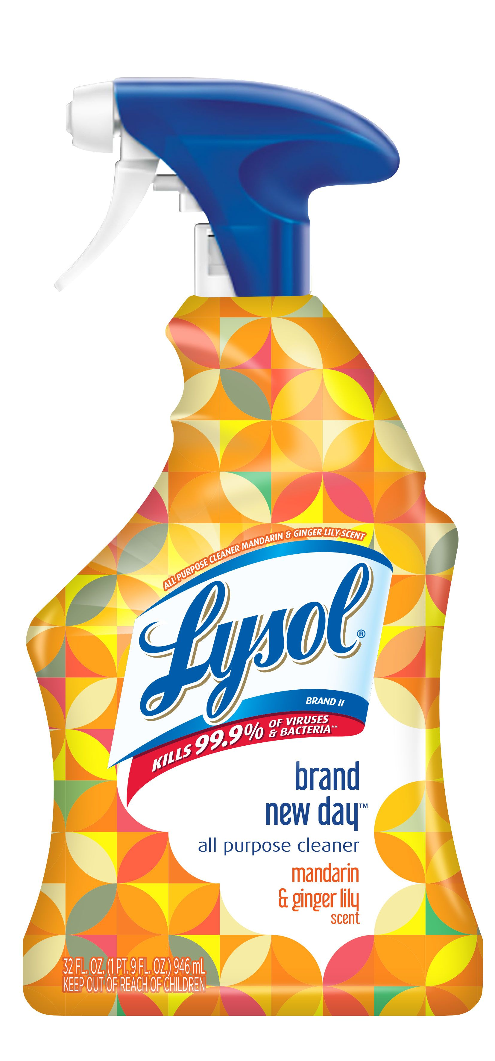 Lysol All Purpose Cleaner Spray Mandarin Ginger Lily 32 Oz Brand New Day Walmart Com In 2020 All Purpose Cleaners Diy Sprays Spray