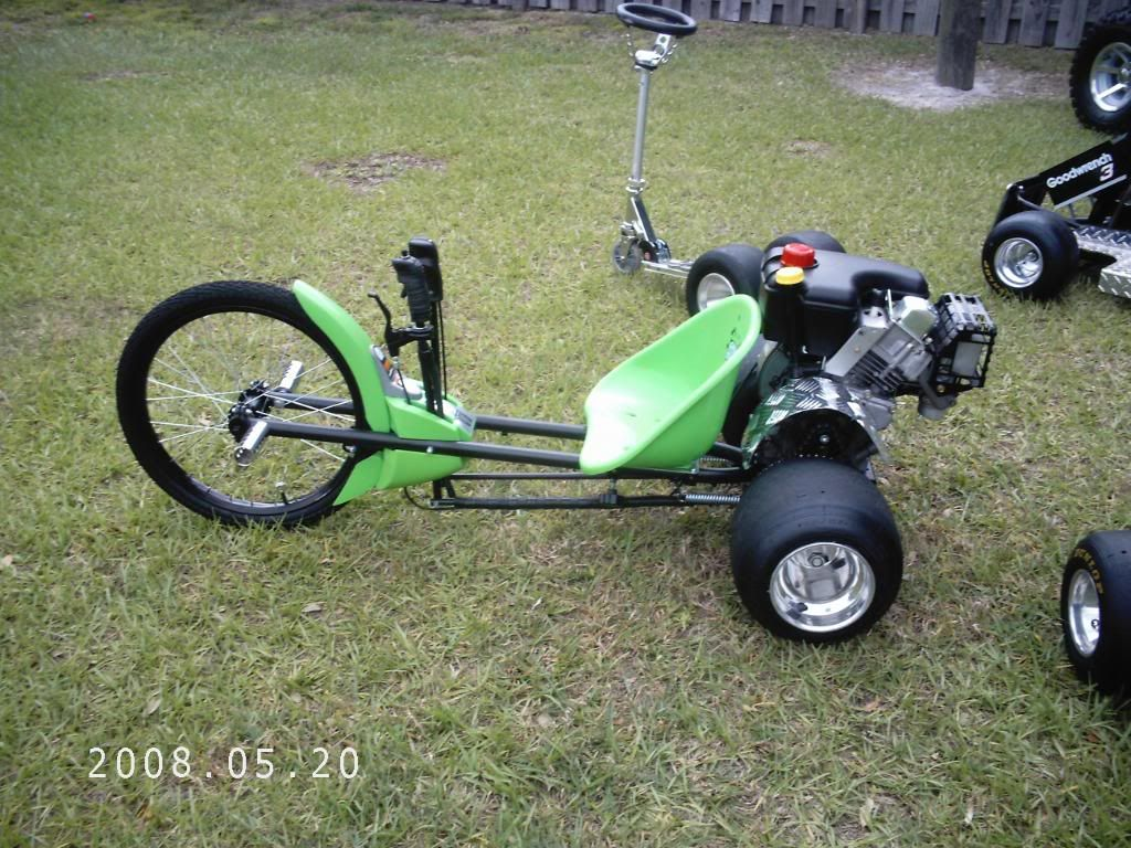 3 Wheel Mini Bike : Green machine converted to hp gas powered mean