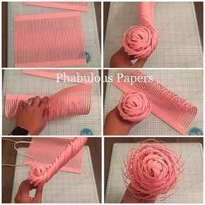"Phabulous Papers on Instagram: ""Here's a step by step on how to make a paper flower center. This paper flower community is a great support system, I've learned so much and…"" #paperflowersdiy"