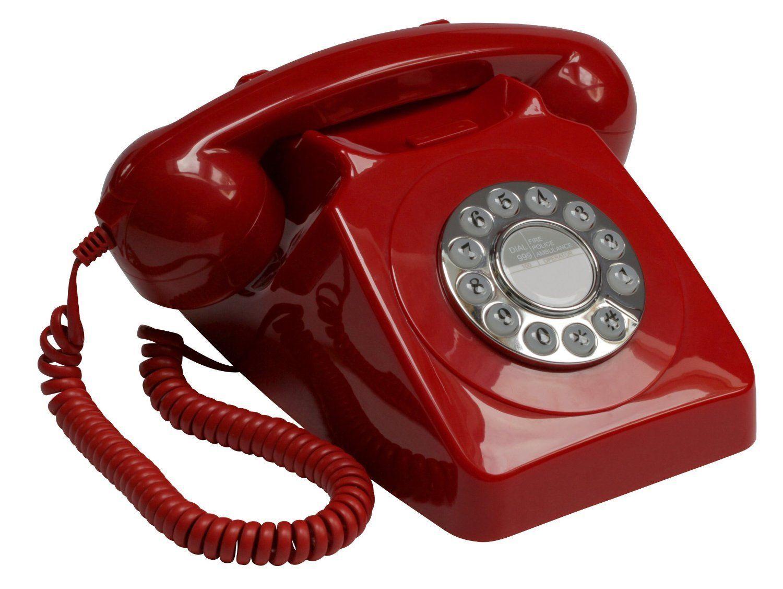 Gpo Teléfono Retro Con Soporte Para La Pared Color Rojo Importado Del Reino Unido Amazon Es Electrónica Teléfono Retro Teléfono Antiguo Retro