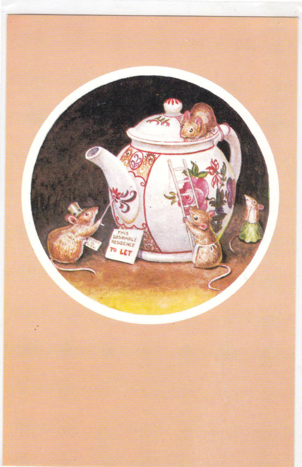 TEAPOT TO LET by Racey Helps mice Medici Society postcard   eBay