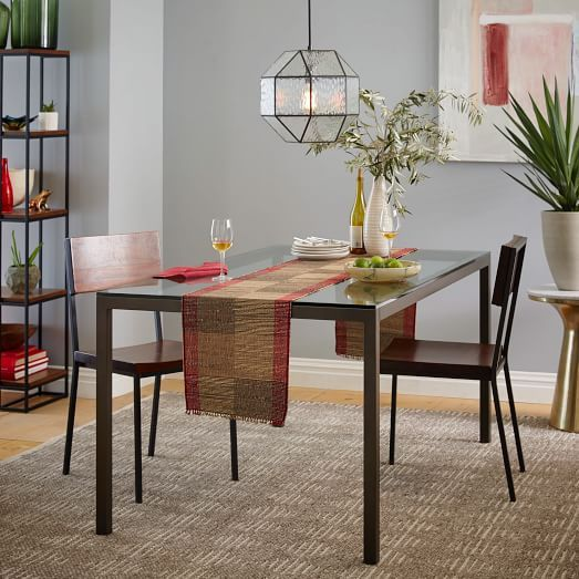 Box Frame Dining Table Glass West Elm Kitchen Pinterest - West elm glass top dining table