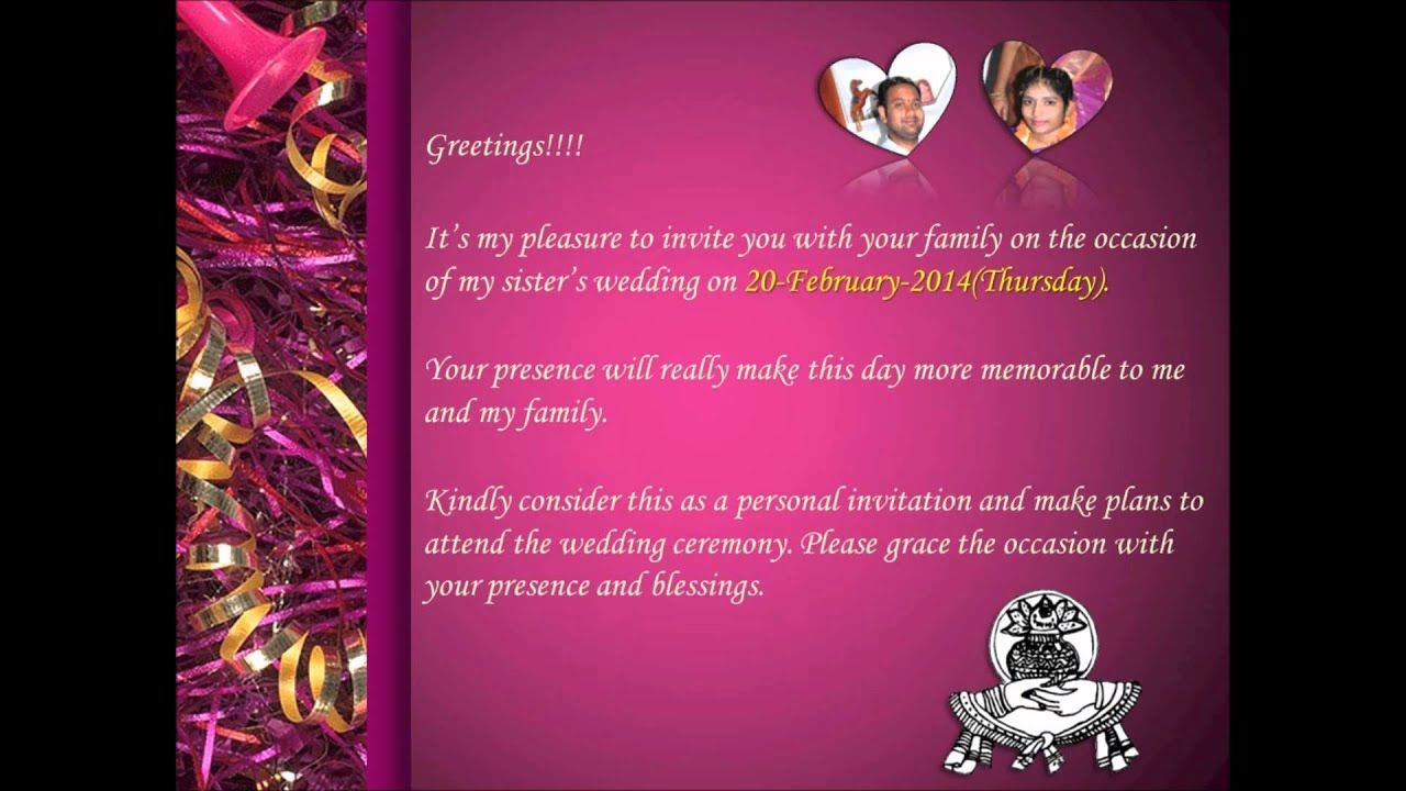 20 Format Of Sister Marriage Wedding Invitation Cards And Review Di 2020