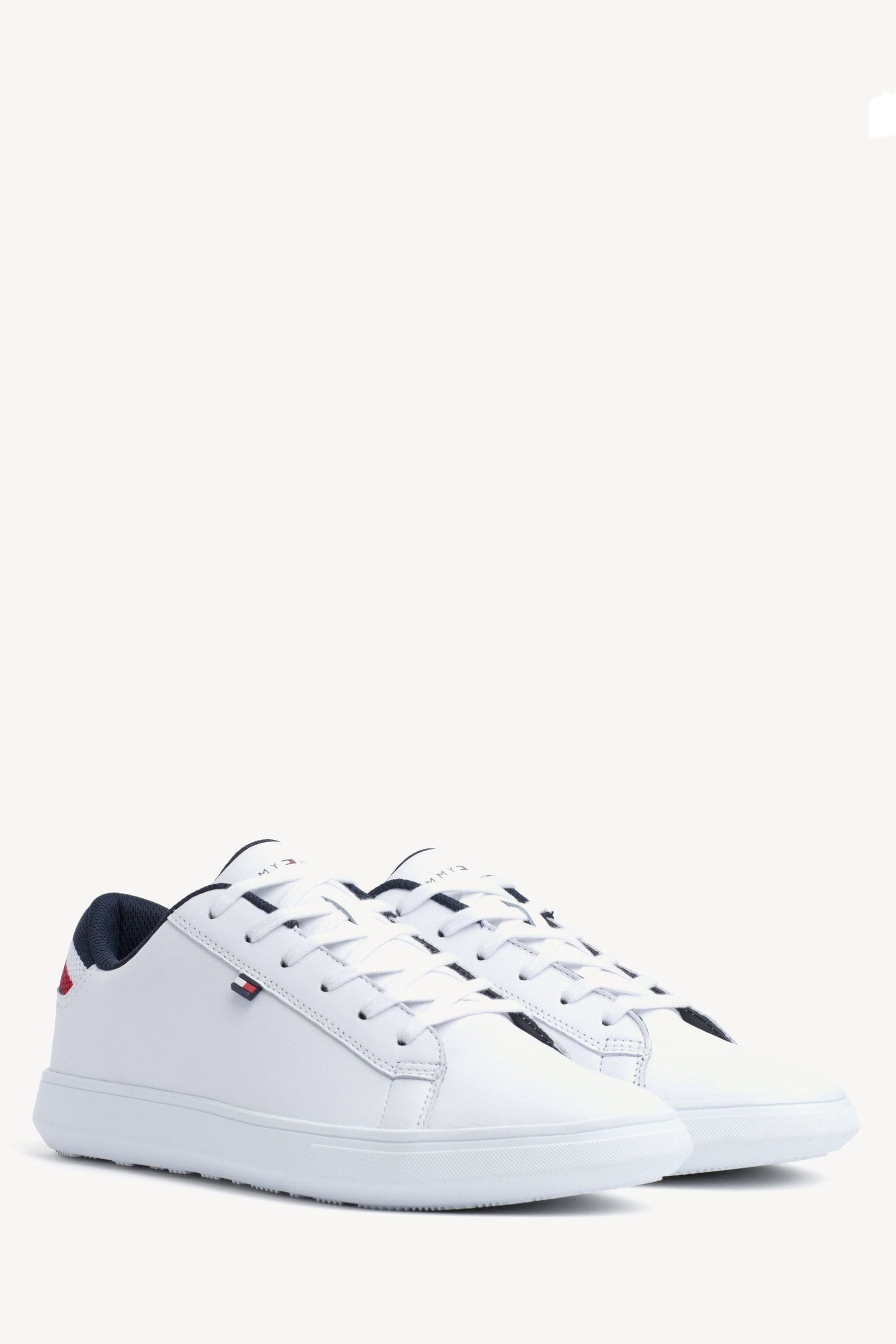 Tommy Hilfiger Men/'s Essential Leather Trainers White