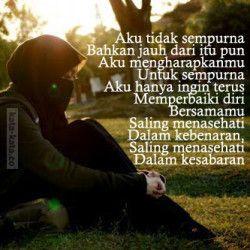 Kata Mutiara Cinta Islami Muslim Quotes Islamic Quotes Be Yourself Quotes