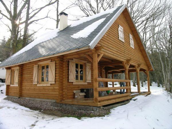 construction de maison en bois rondin en bourgogne. Black Bedroom Furniture Sets. Home Design Ideas