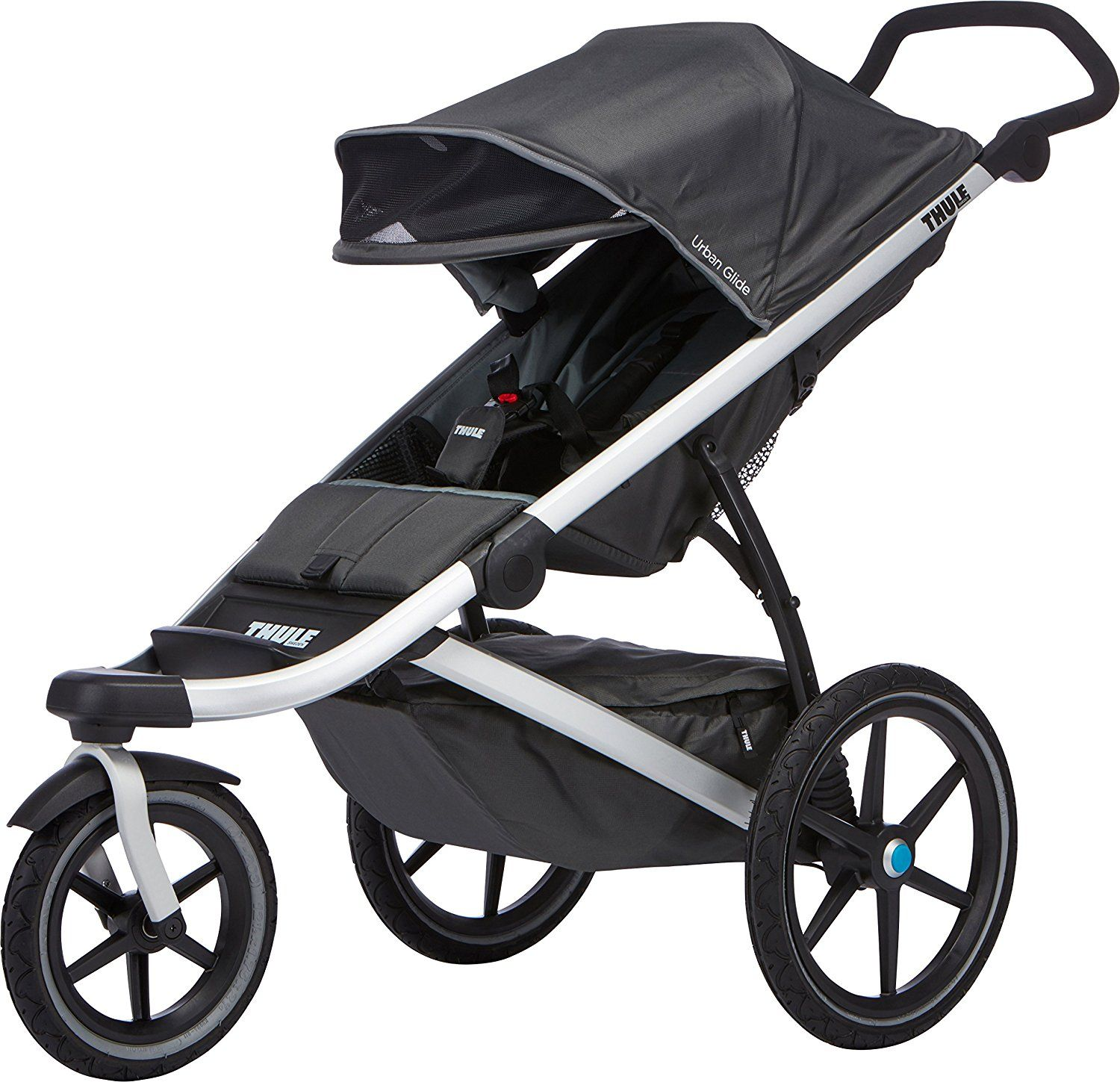 Jogging stroller much lighter than most joggers. Great