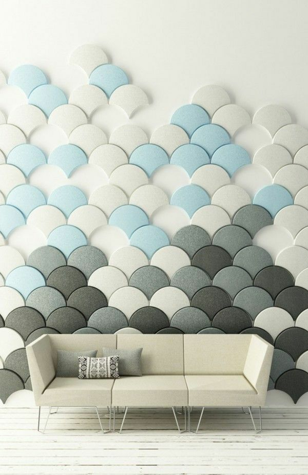 diy selber machen tolle wandgestaltung wohnideen wandfarben sofa - wohnideen selbst machen