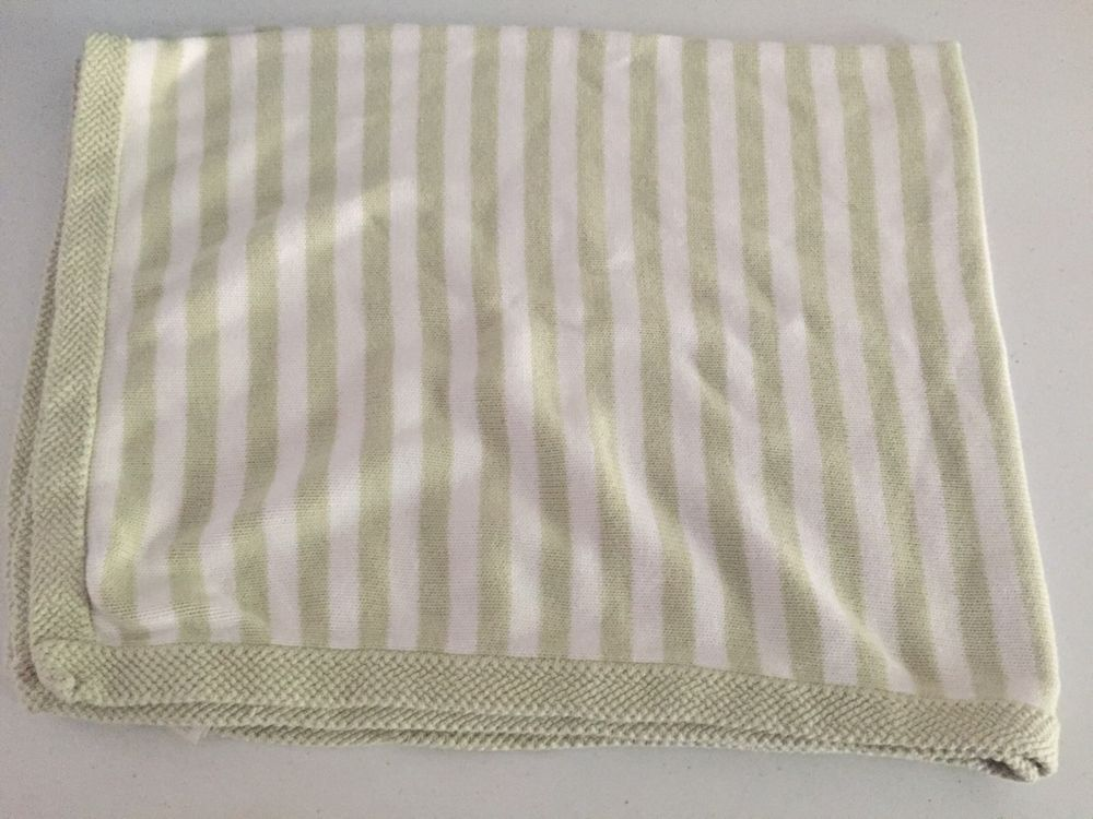 Pottery Barn Baby Kids Green White Sweater Knit Baby