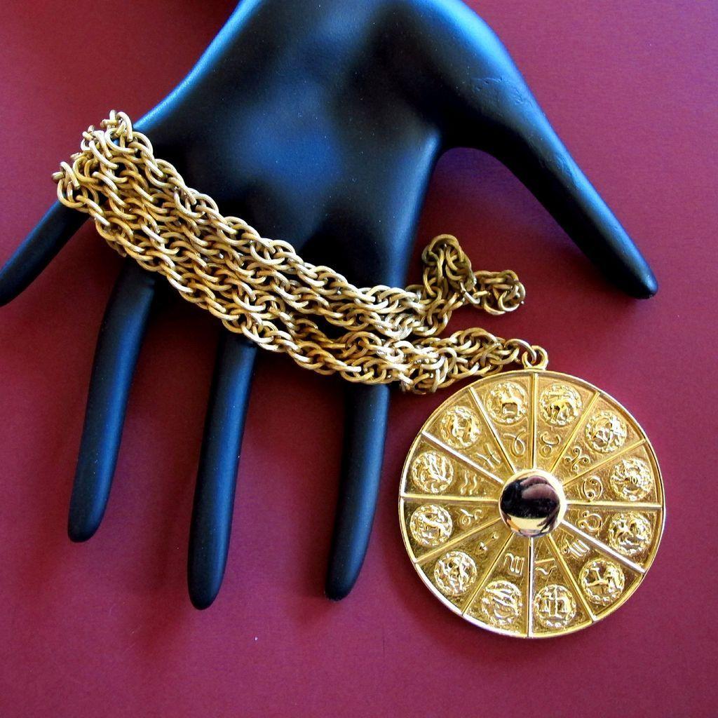 Napier Zodiac Medallion Pendant Necklace