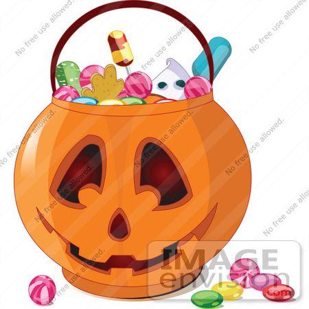 56445 Royalty-Free (RF) Clip Art Illustration Of Halloween Candy ...