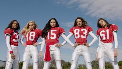"""TALK OF THE TOWN By Orikinla: Victoria's Secret Angels Play Football in New """"Sco..."""