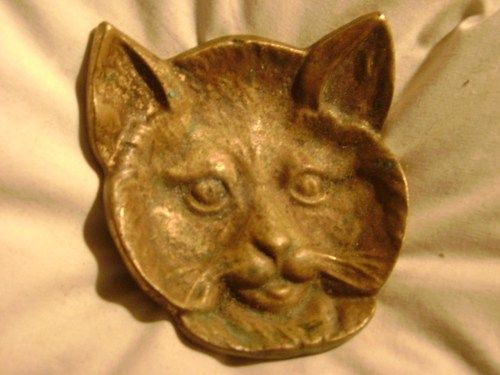 vintage cat jewelry | Rare, Vintage, Antique, Brass' Cat jewelry, trinket dish,ccollectible