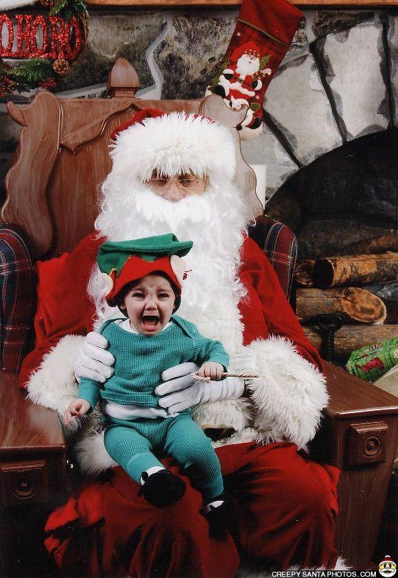 Creepy Santa At The Mall Shudder Santa Claus Pictures Santa Photos Creepy