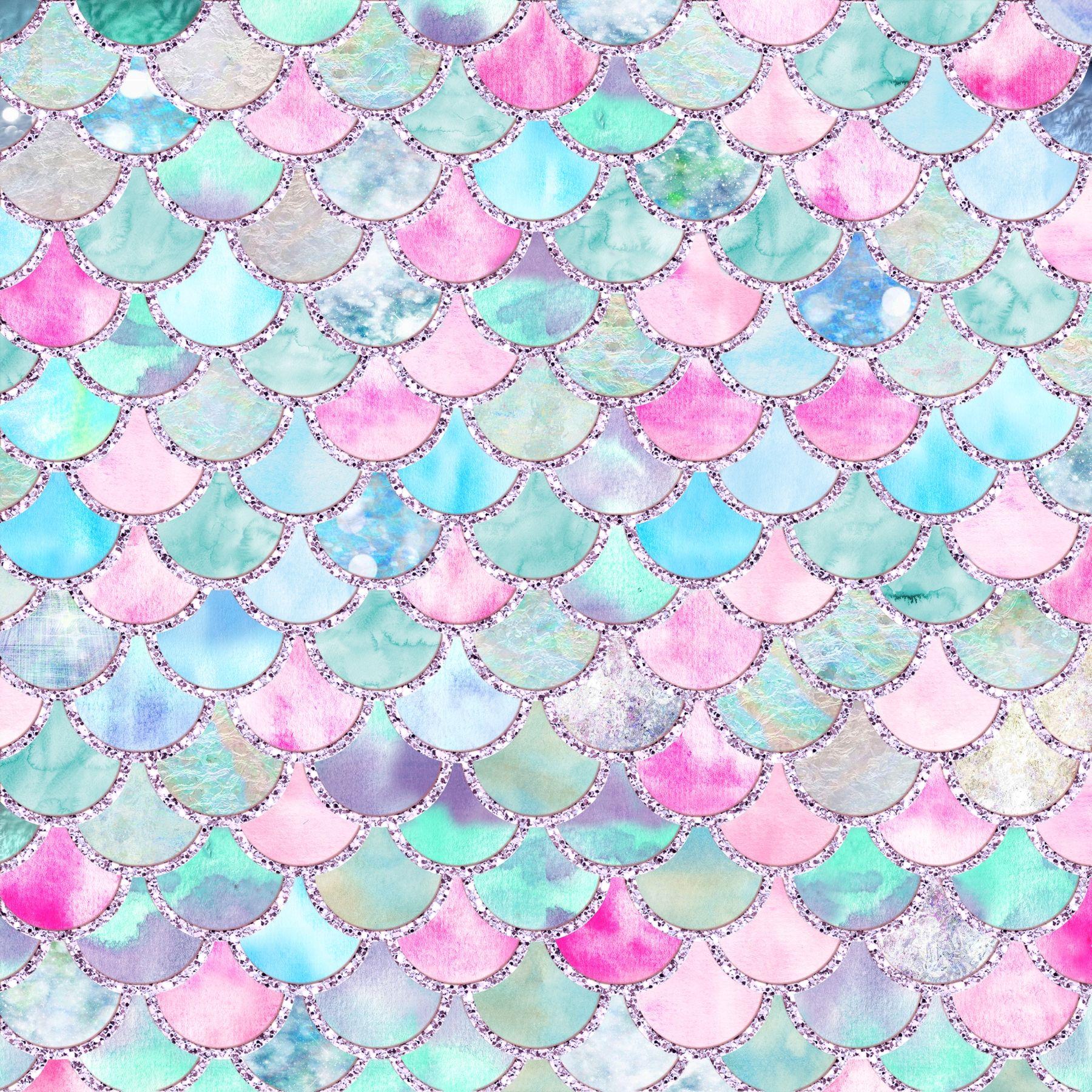 Teal Summer Mermaid Scales Wallpaper Mermaid Wallpapers Mermaid Scales Mermaid Background