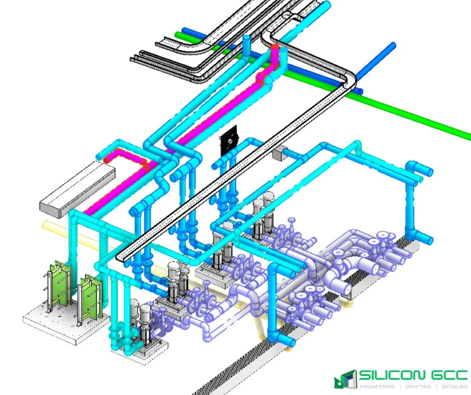 Plumbing Piping Cad Engineering Services Dubai, UAE