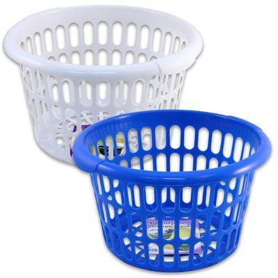 2pc Plastic Round Laundry Baskets 9 5 H X 15 L By 4sgm 19 99