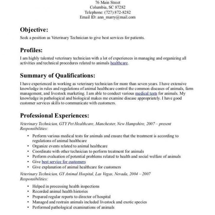 Resume Templates Veterinary Technician #resume #ResumeTemplates ...