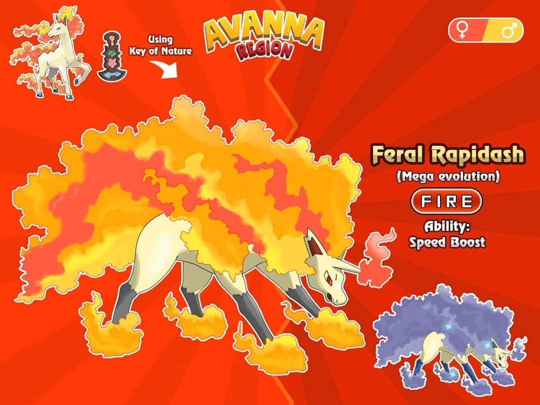 Feral Rapidash Mega Evolution Fire Horse Pokemon Researchers Consider Feral Evolution An Alternative Form Of Me Mega Evolution Pokemon Pokemon Mega Evolution