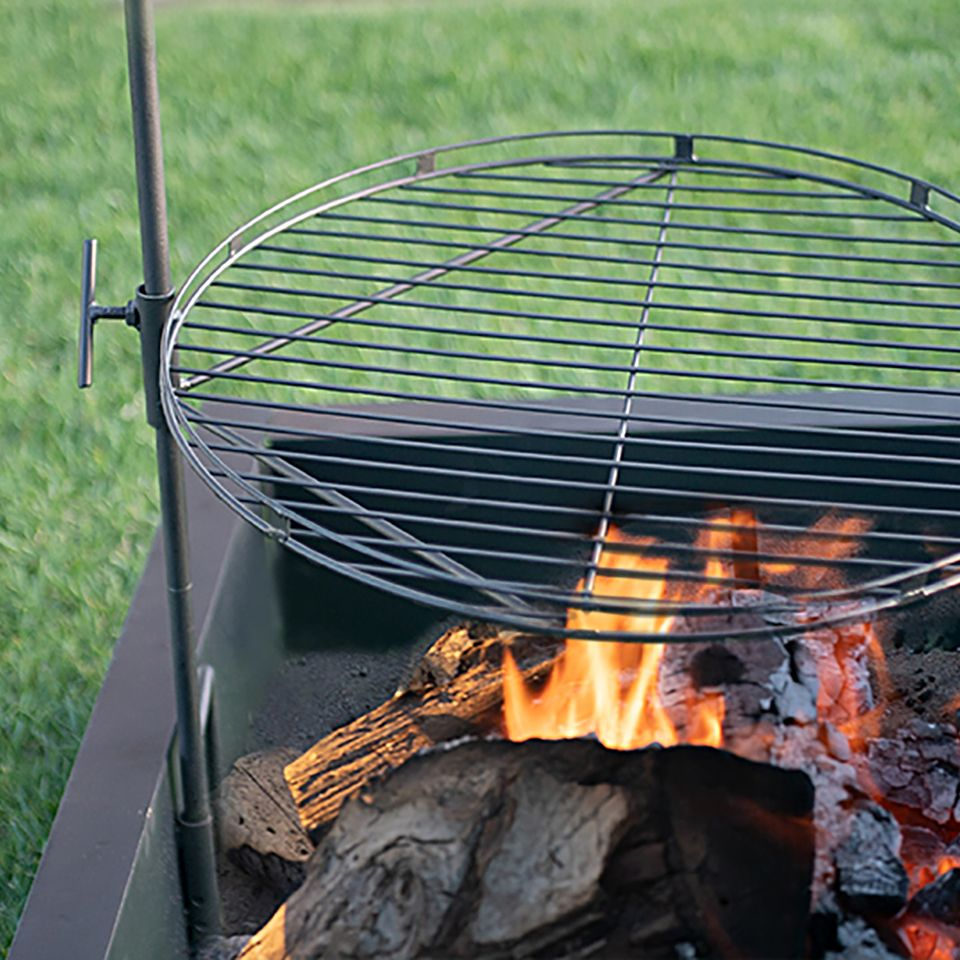 Heavy Gauge 36 In Square X 10 In High Fire Ring Fire Pit Accessories Fire Ring Fire