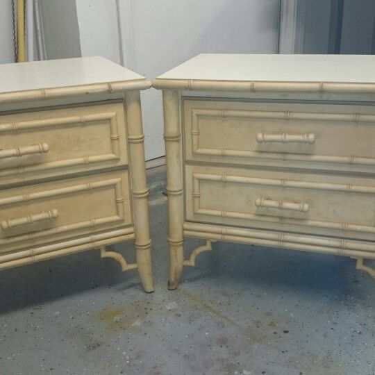 VINTAGE DIXIE ALOHA Faux Bamboo Chippendale Night Stands. Excellent  Condition. Selling On The Market