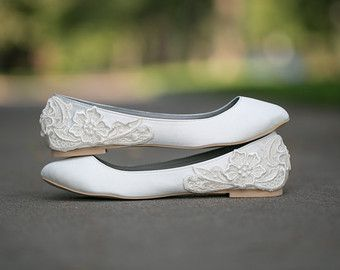 Wedding Shoes Ivory Flats Ballet By Walkinonair