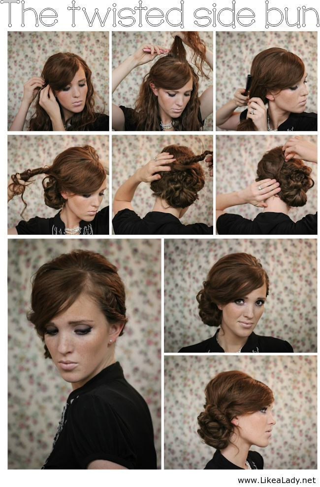 The Twisted Side Bun | Beauty & Skincare | Hair styles ...