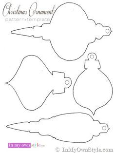 Christmas-Ornament-Patterns-to-print and cut-out to make paper holiday  ornaments. Use this template for the honeycomb ornaments.
