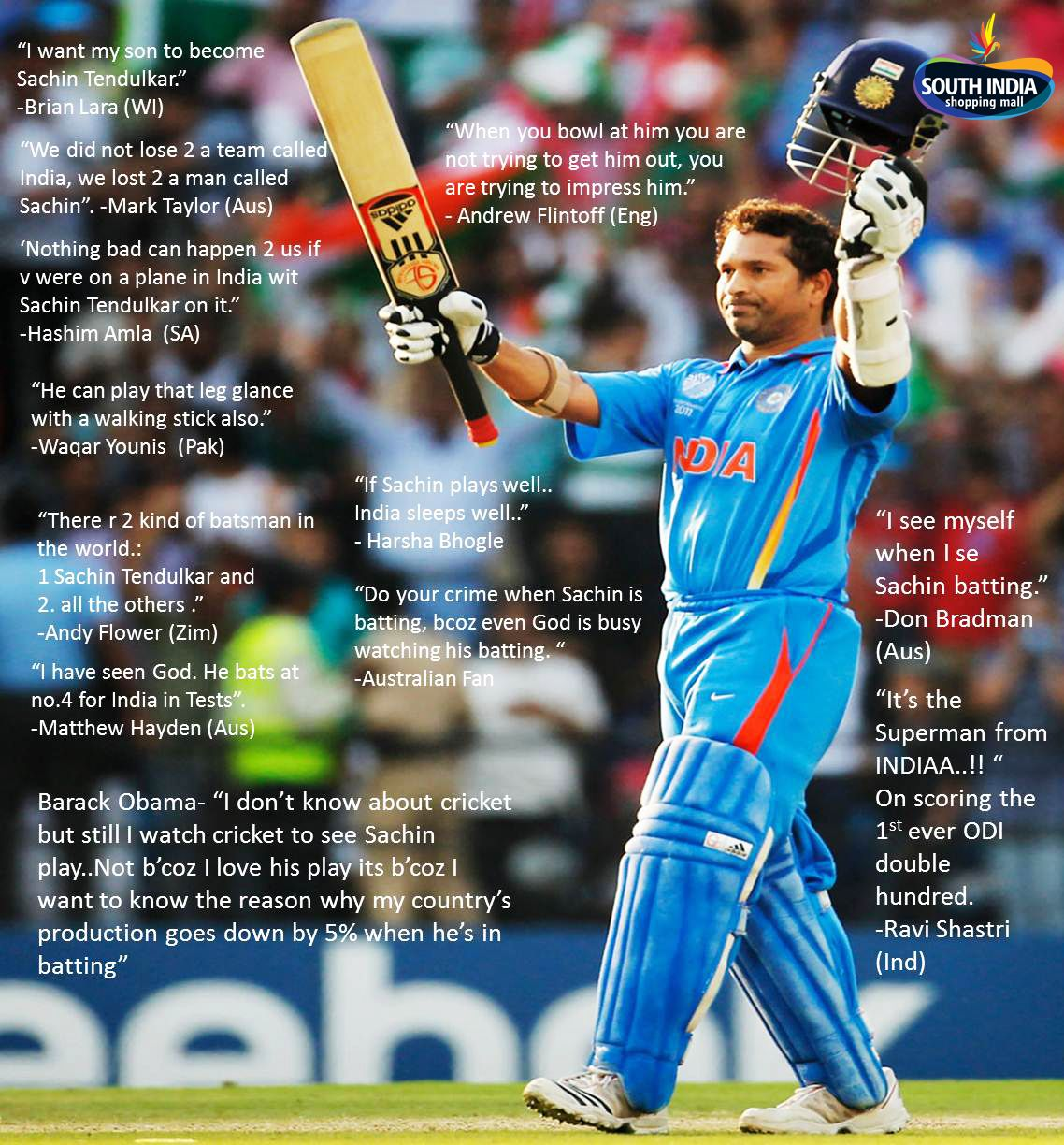 Famous quotes from Sachin Tendulkar (Image copyrights