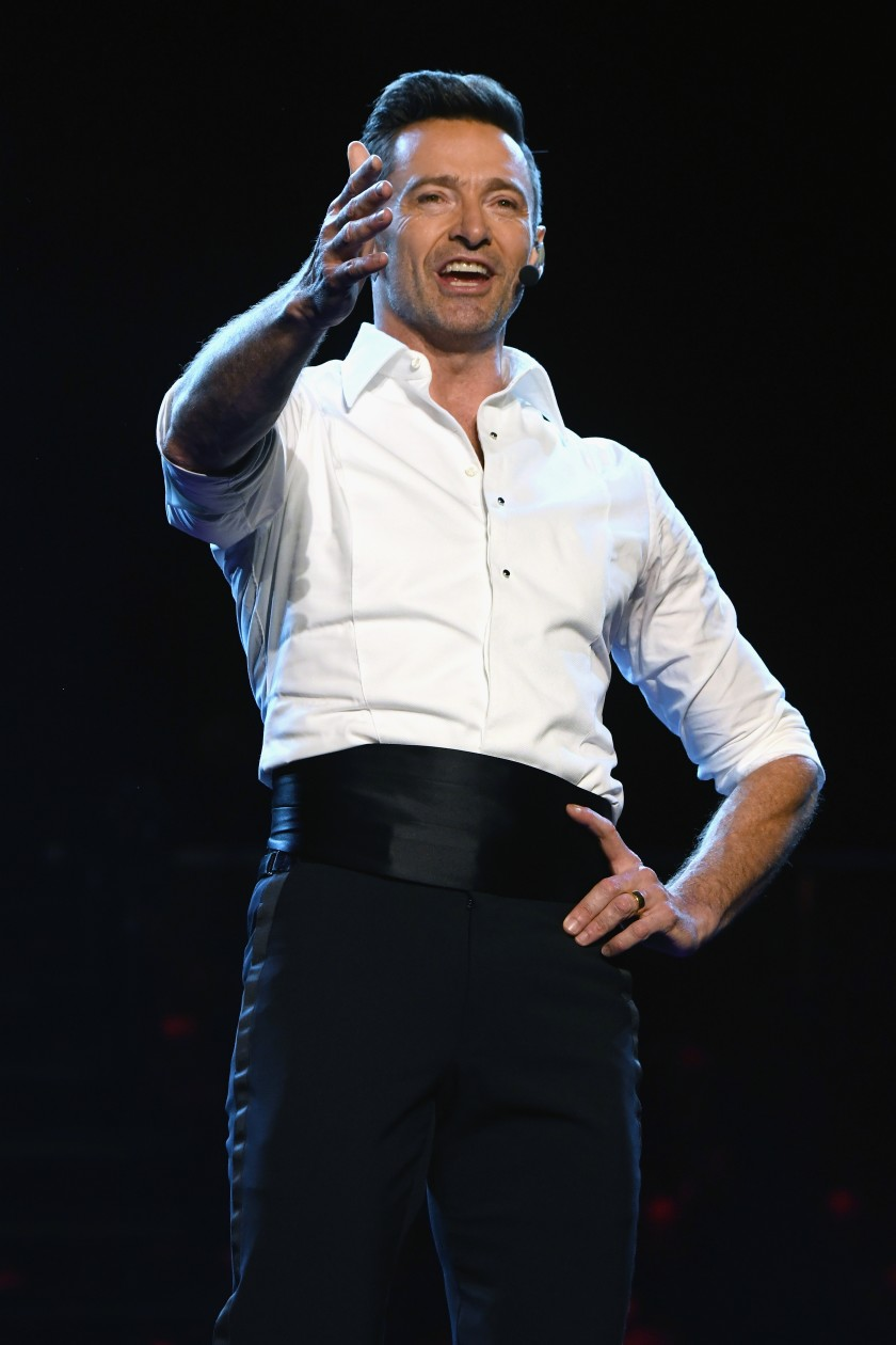 Review Hugh Jackman Sings Dances And Charms Delivering A Grand Time At The Hollywood Bowl Hugh Jackman The Hollywood Bowl Jackman