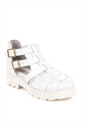 Elle Kadin Yaz Koleksiyonu Beyaz Ayakkabi 14y082 70 Indirimle 129 99tl Ile Trendyol Da Ayakkabilar Urunler Trendler