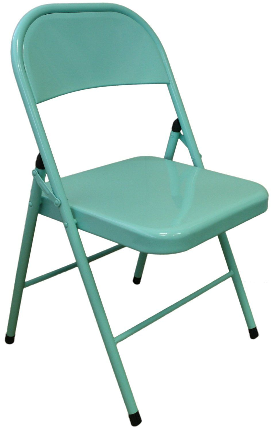 Admirable Harbour Housewares Duck Egg Blue Metal Folding Desk Chair Machost Co Dining Chair Design Ideas Machostcouk