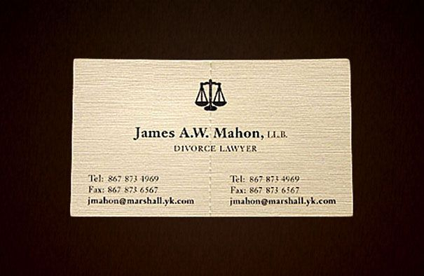 15 most unusual and interactive business cards pinterest it is nice to design a card that hints at what you do so people do not have to wonder like this card has scales that many associate with law and this reheart Gallery