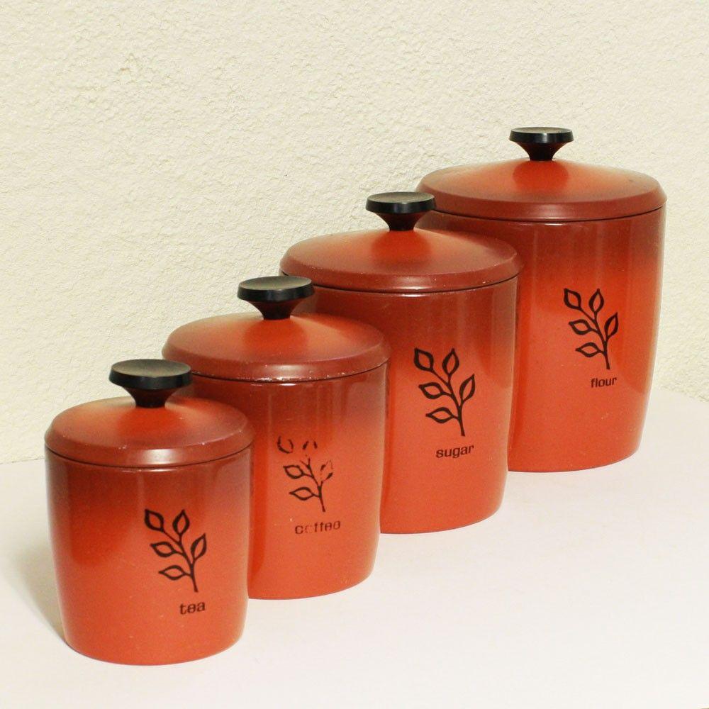 vintage west bend canisters cannister sets pinterest