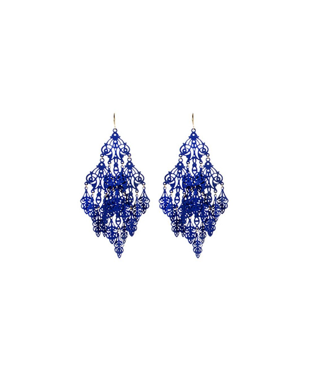 Look at this Blue Gabrielle Earrings on #zulily today!