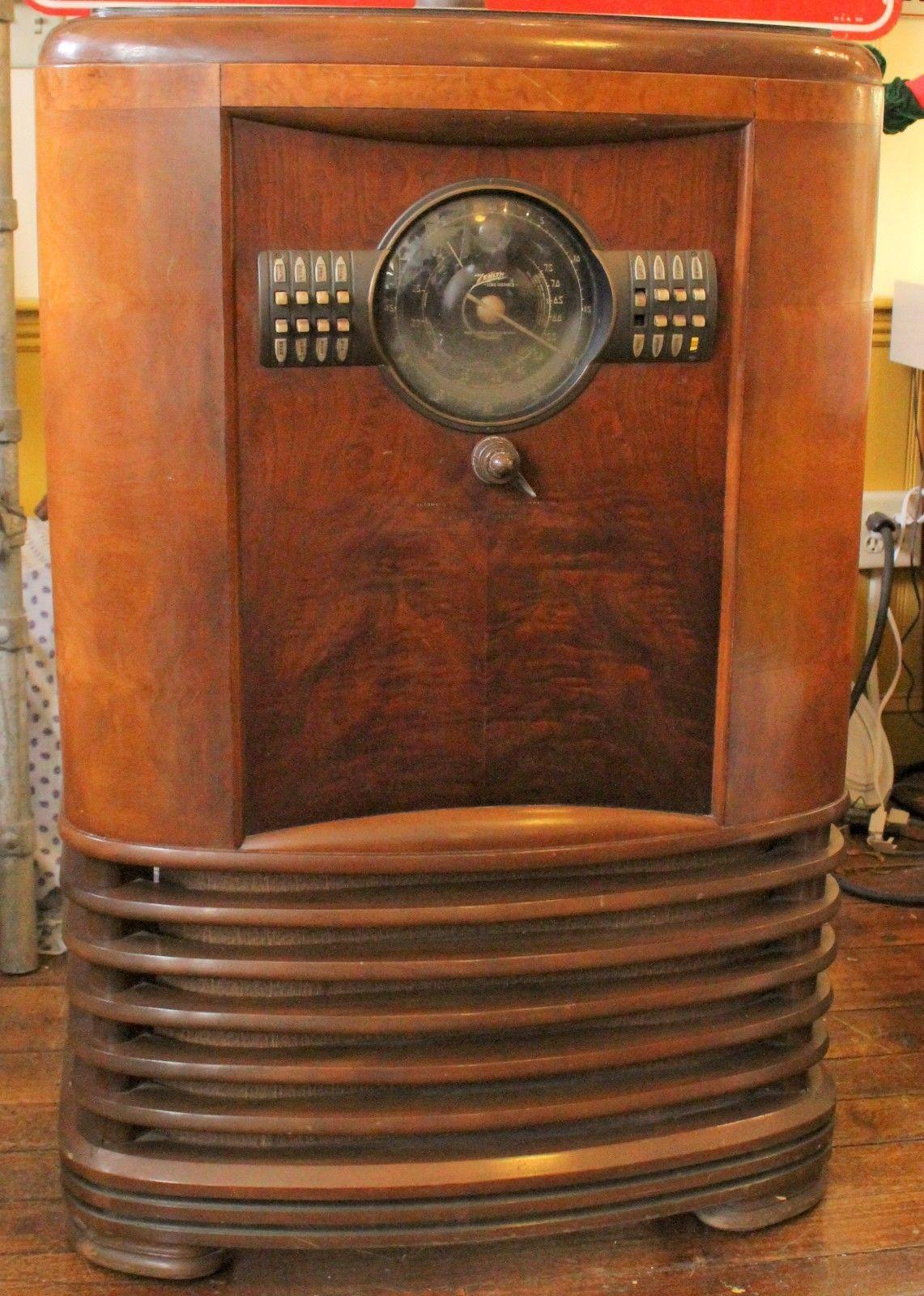 Zenith Shutter Dial Console Radio Model 9 S 367 Vintage 1930 039 S Ebay Antique Radio Vintage Radio Old Radios