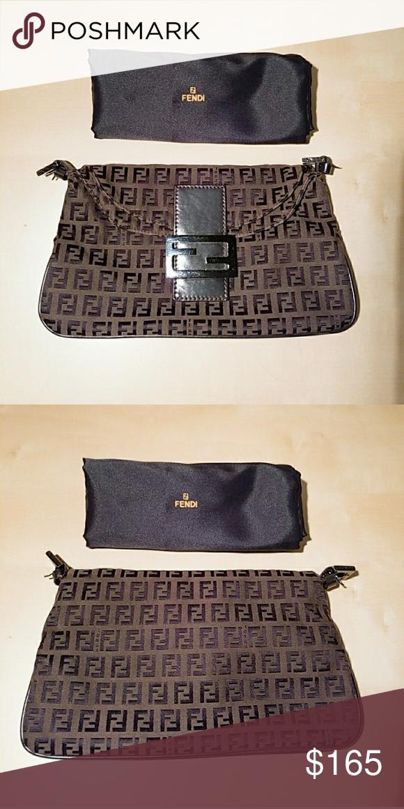a5986812a9f7 FENDI Zucca Baguette Bag 100% authentic