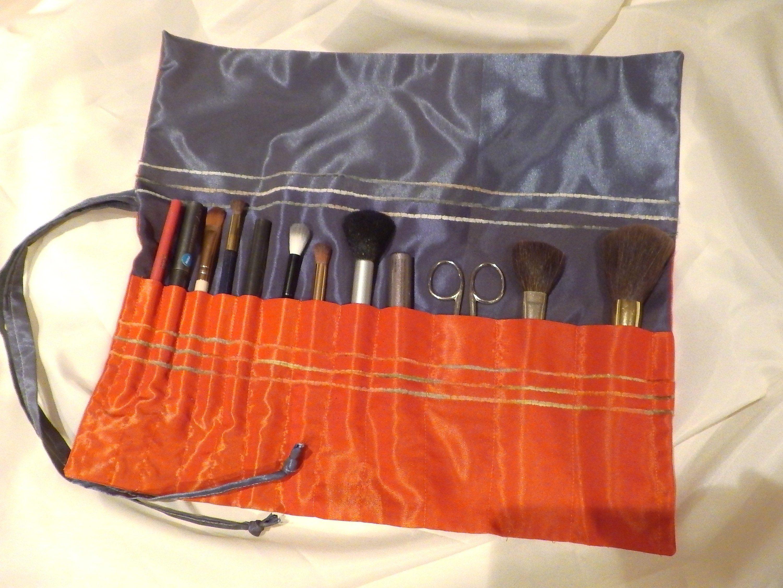 Makeup Brush Roll Roll Up Brush Holder Crochet Hook Holder