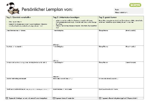 Lernplan Erstellen Furs Studium Tipps Infos Vorlagen 5
