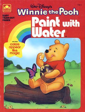 1937 paint with water magic coloring book 3430 merril