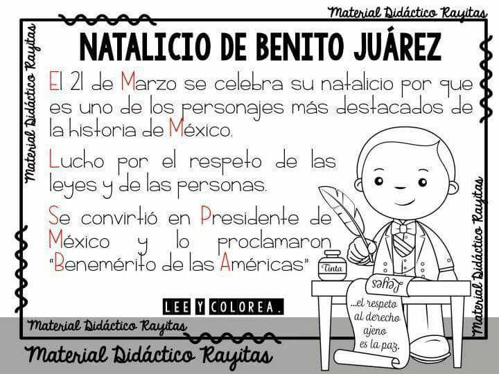 Natalicio Natalicio De Benito Juarez Material Docente Lectura Y Escritura