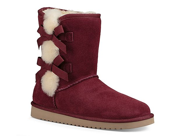 b24e1b99128 Women Victoria Short Bootie -Burgundy | Shoes | Ugg boots, Uggs, Boots