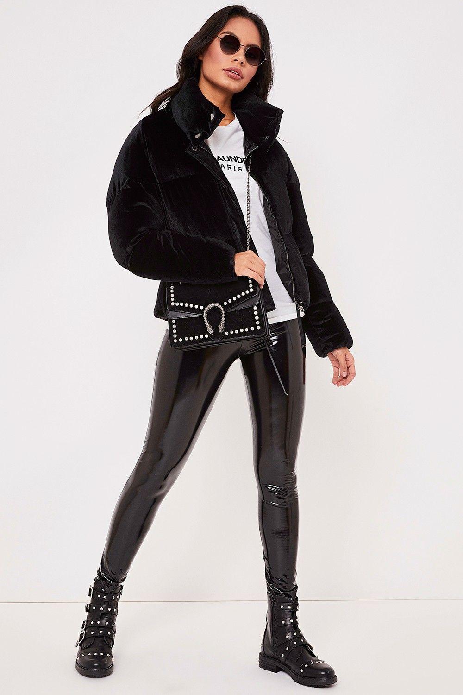 Atlanta Black Velvet Puffer Jacket Puffer Jacket Outfit Puffer Jacket Women Puffer Coat Style [ 1500 x 1000 Pixel ]